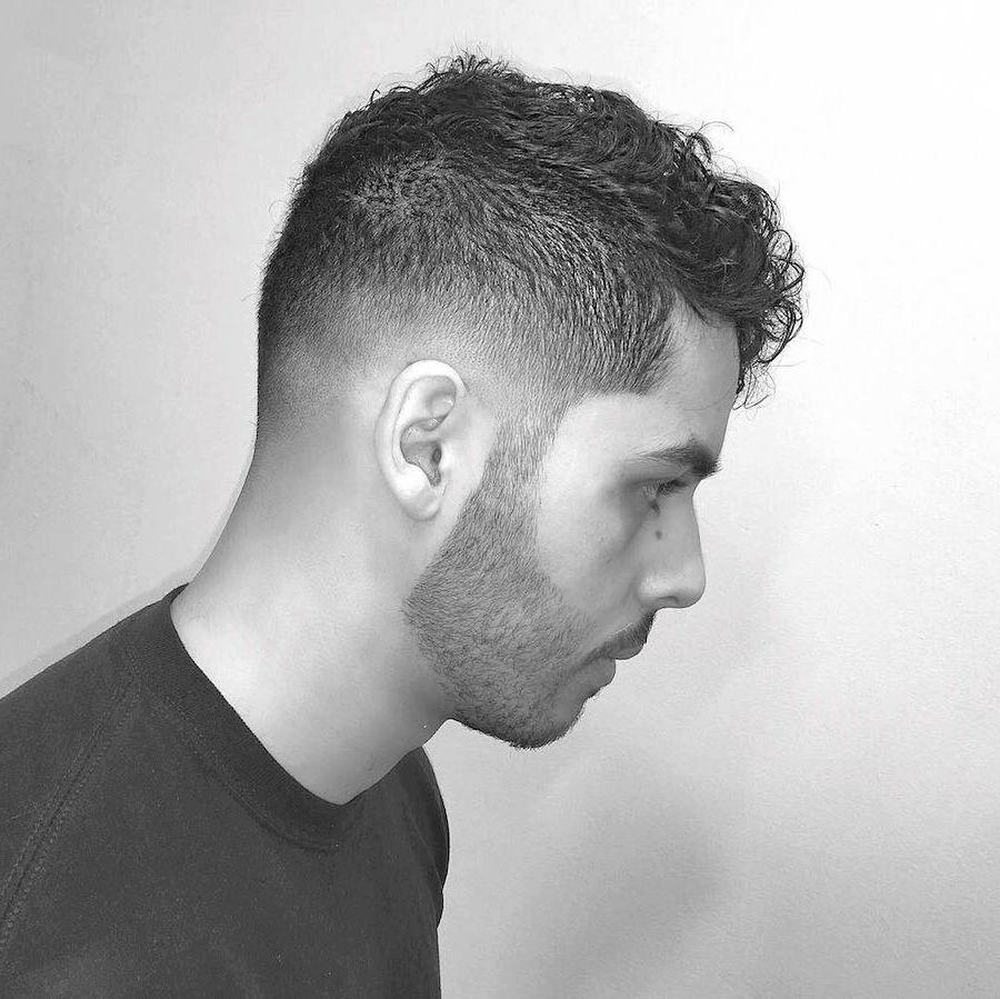 luiiisc__and modern classic men's haircut short curly hair