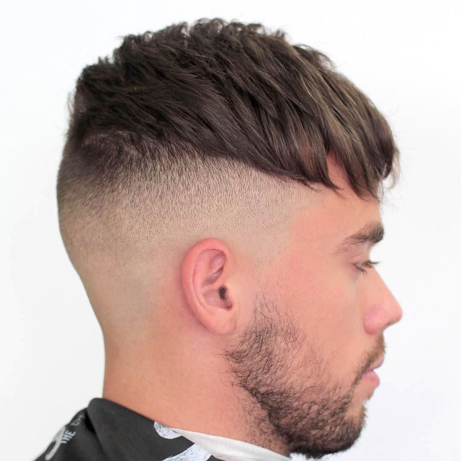 markthebarber_and blurry fade and messy crop short haircut for men
