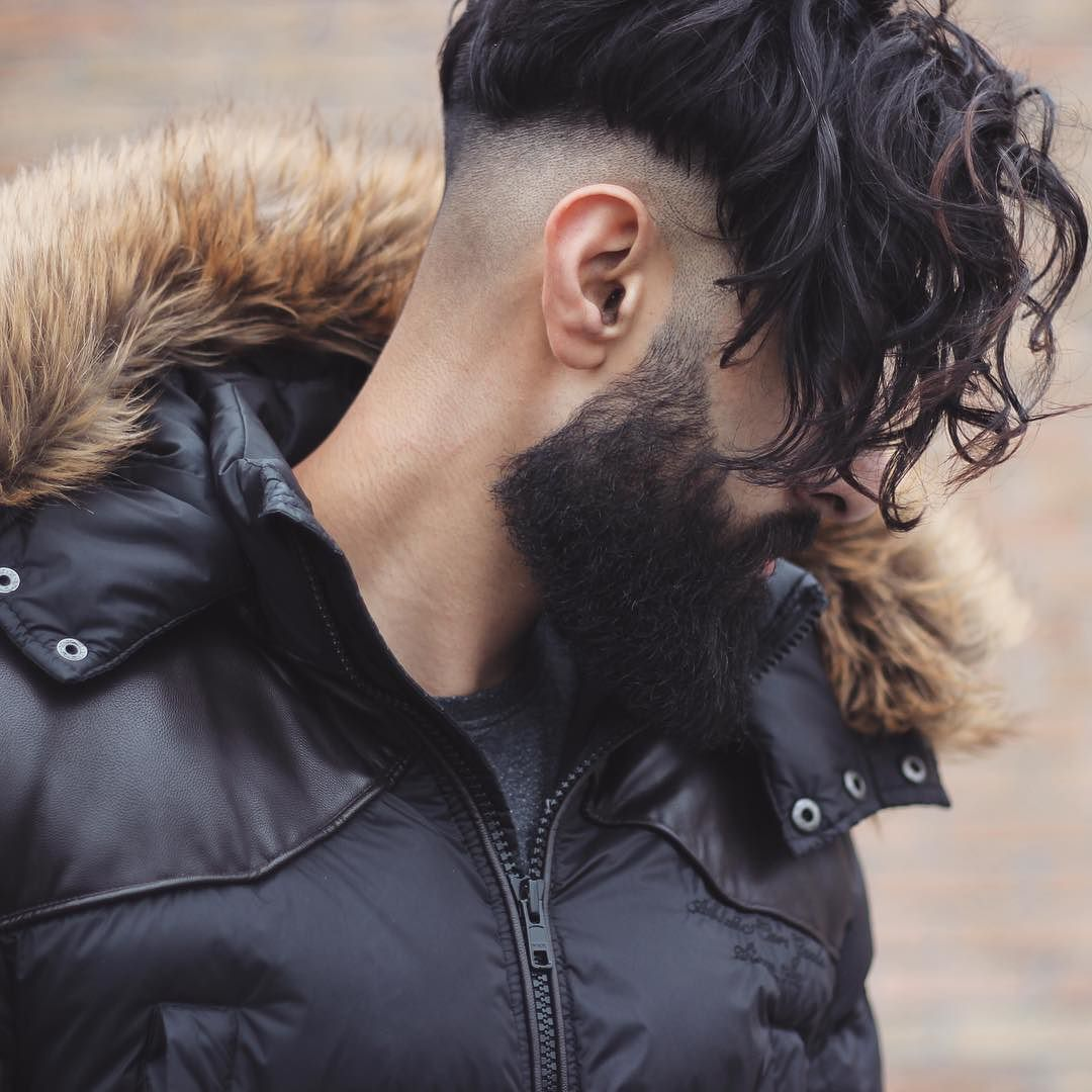 Long Hairstyles For Men : _and mokumbarbers long curly fringe undercut hairstyle for men