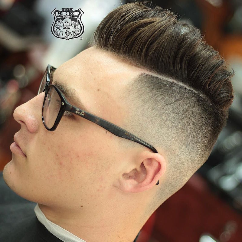 pjabreu_and high fade disconnected hairstyle for men