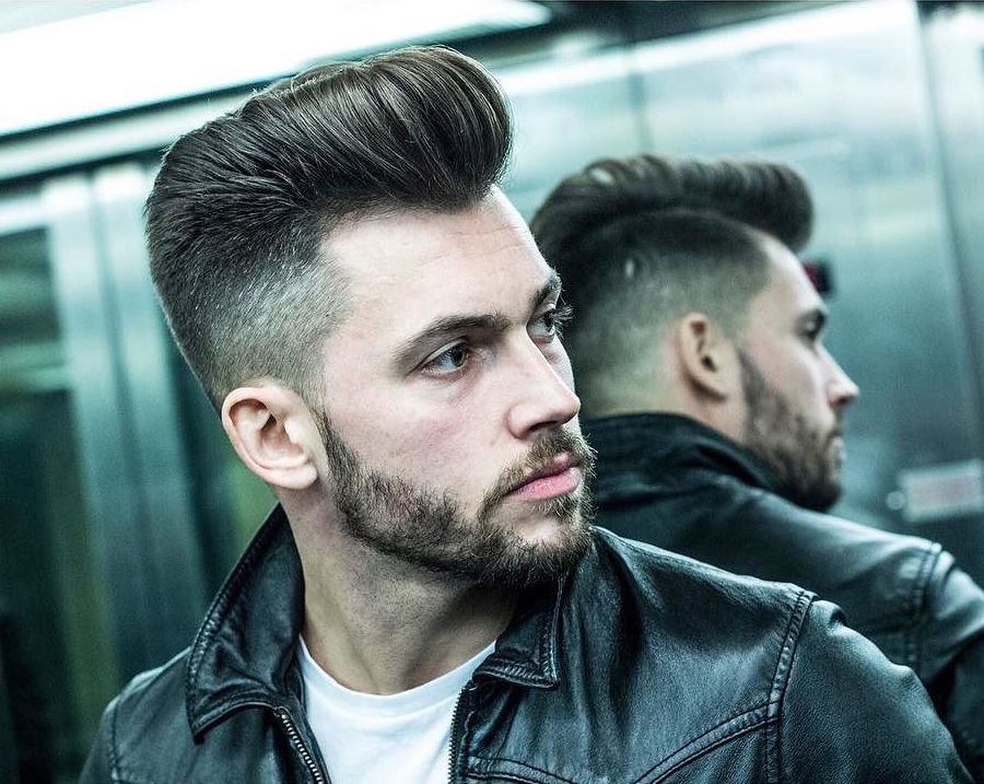 r.braid_and high fade and medium hair blown dry mens hair