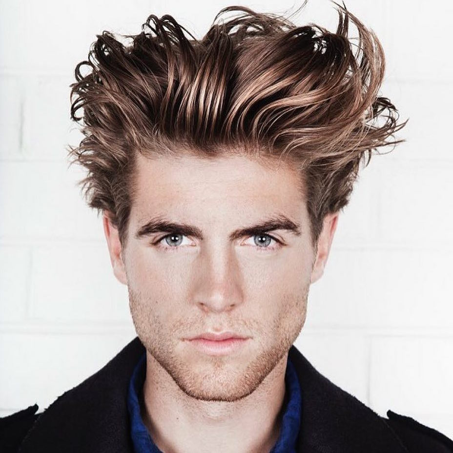 Messy long hair mens hairstyle