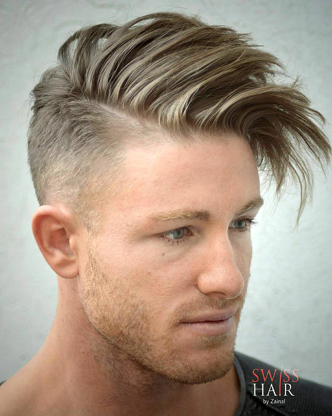 Long Hair Combover Hairstyle For Men