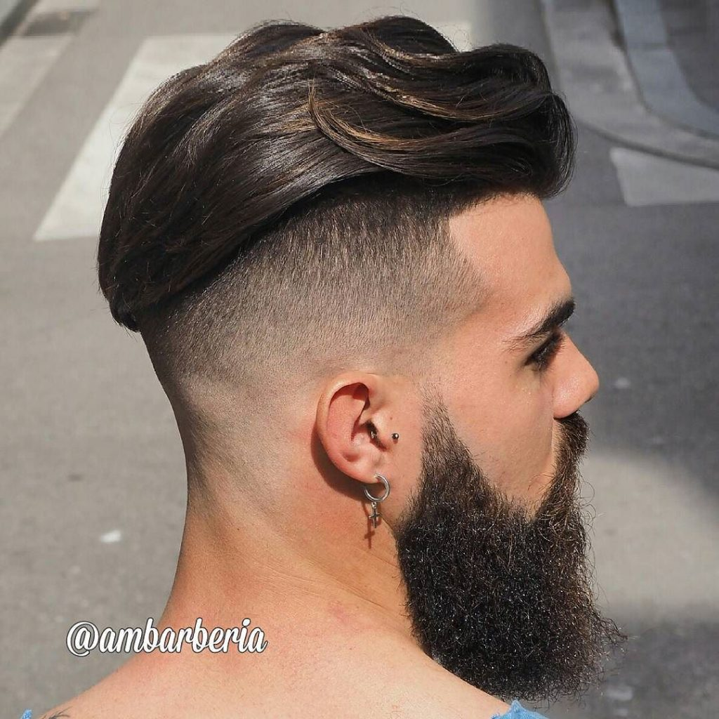 Undercut for long hair men
