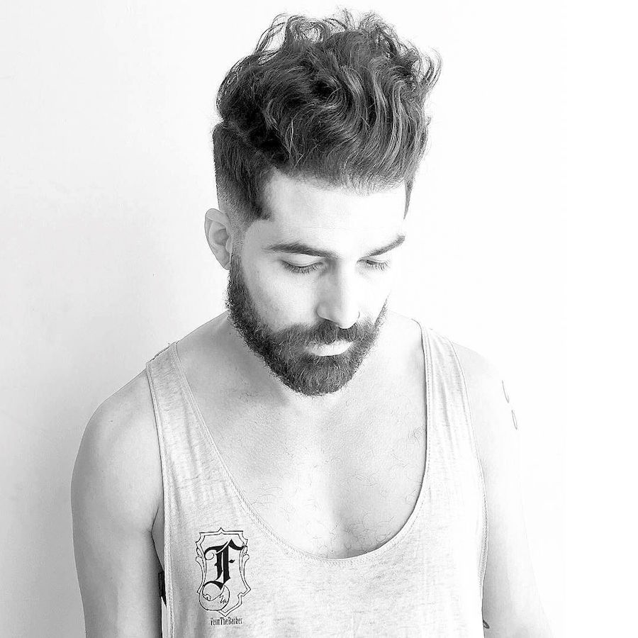 fernthebarber_and long wavy textures on top and short sides