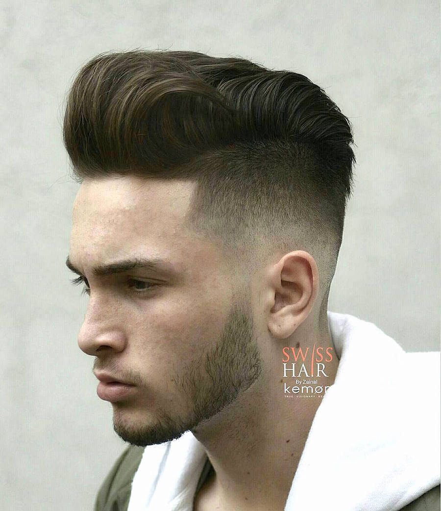 Pomp With A Wave + Low Fade. Swisshairbyzainal_and Cool Pompadour Haircut  ...