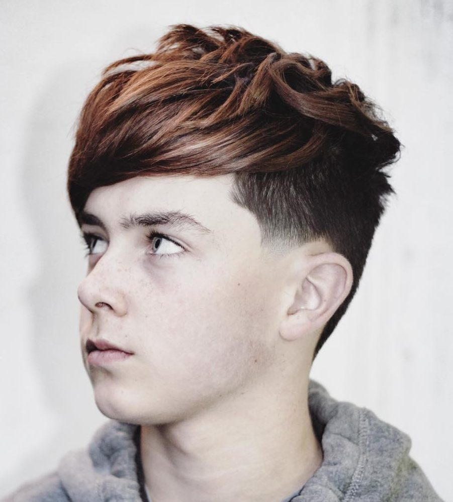 Boys Hairstyles hairstyles for teen boys high temple fade with spiky textured hair Ryancullenhair_trendy Haircuts For Boys