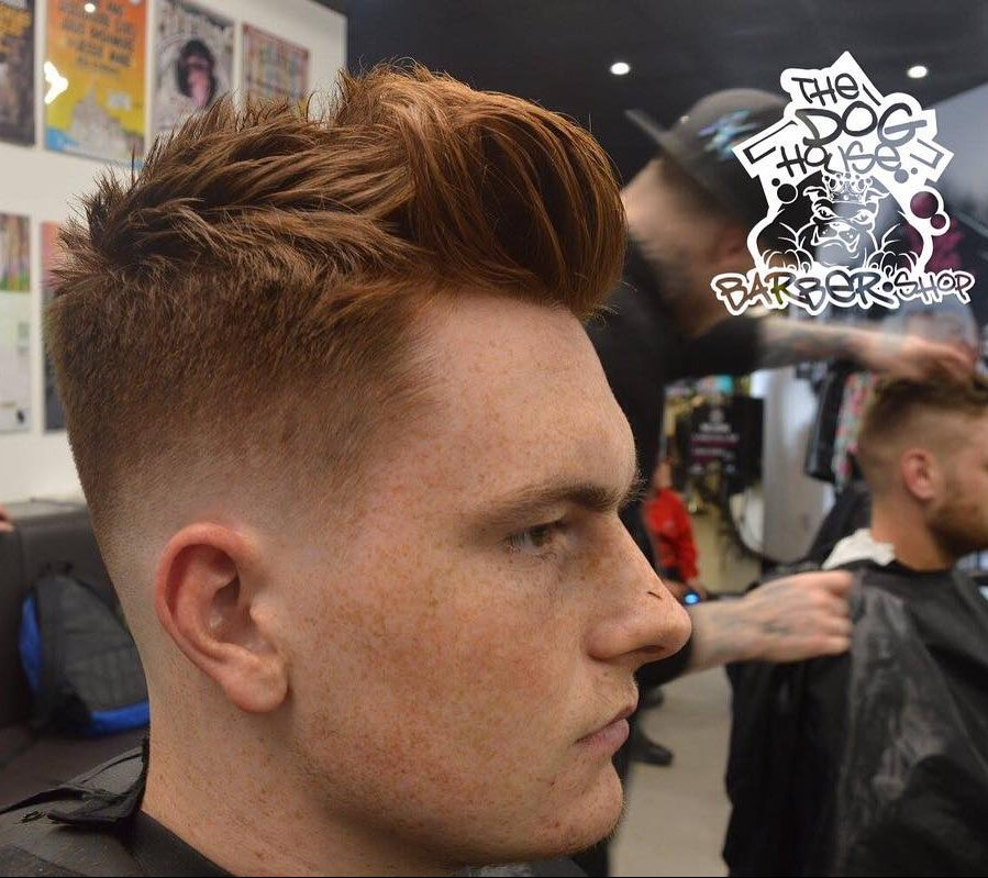 Low Fade Messy Quiff Haircut