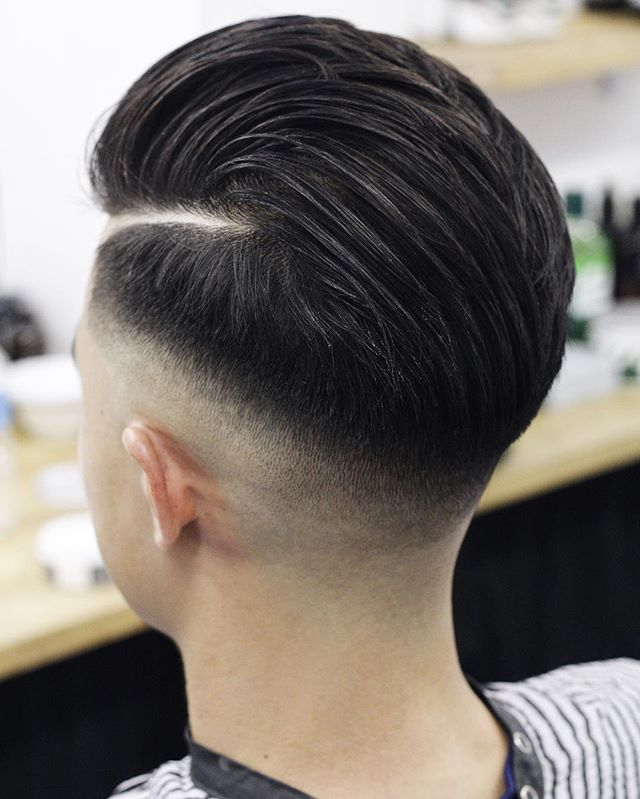 mrliptrot Thick long low bald fade