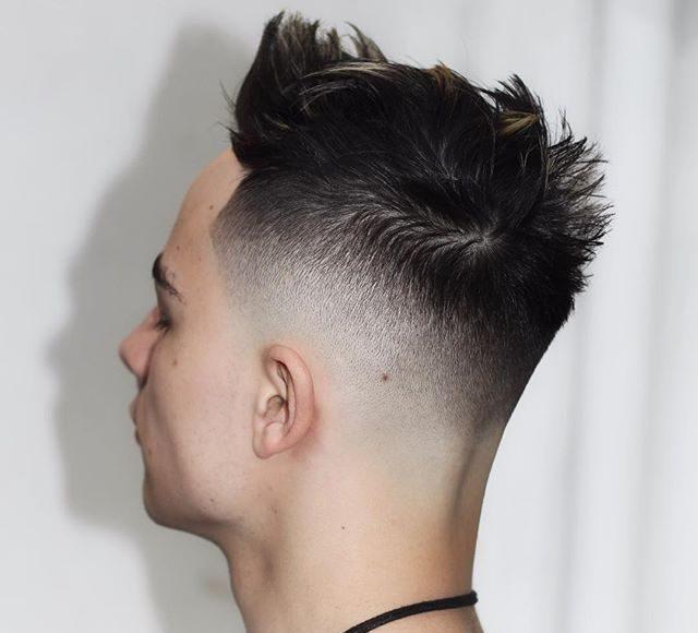 ryancullenhair Spiky TExture Skin Fade