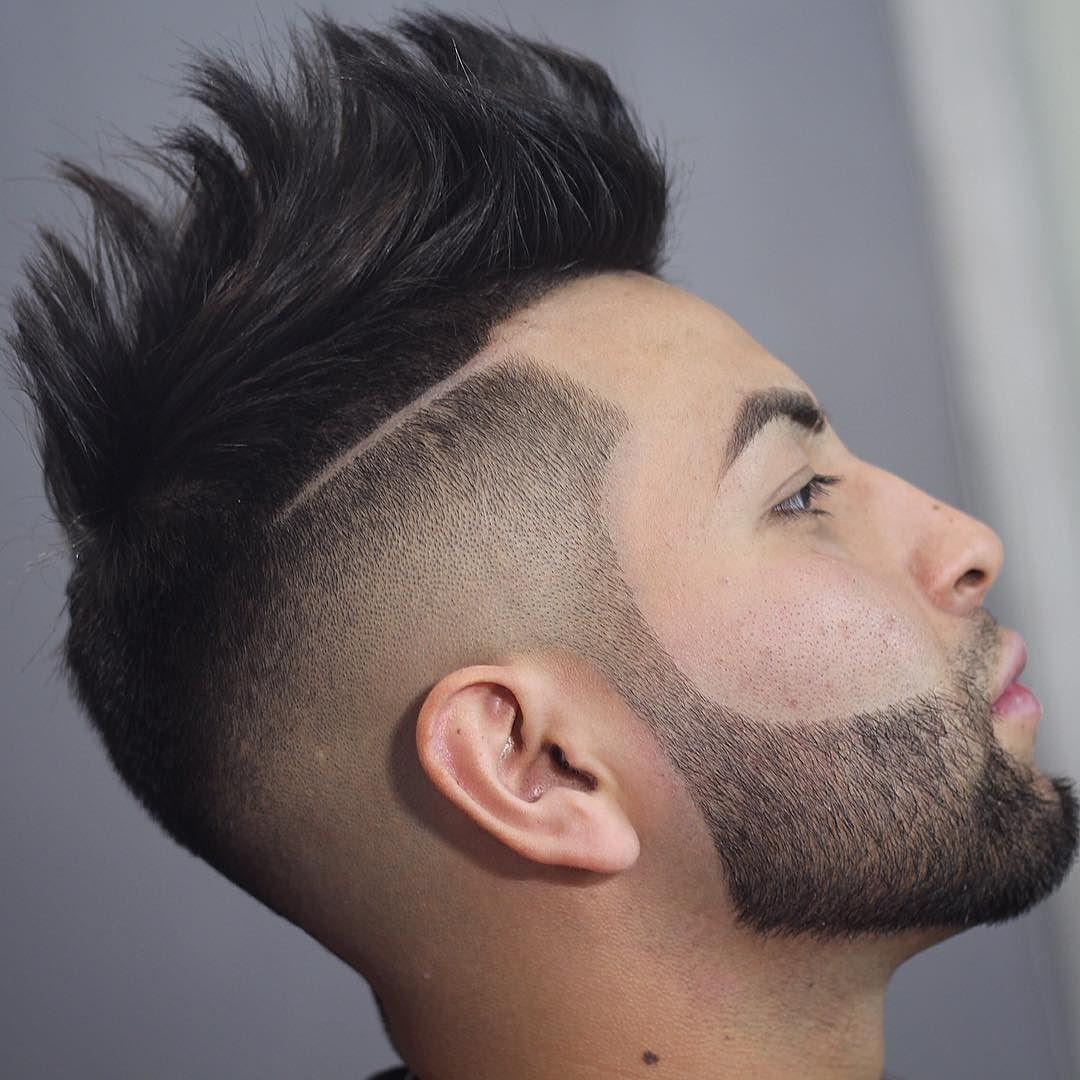 Spiky fauxhawk haircut