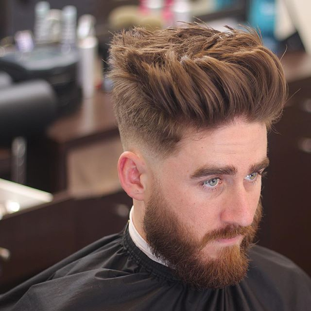 itsclipperovercomb thick hair men messy textured spikes
