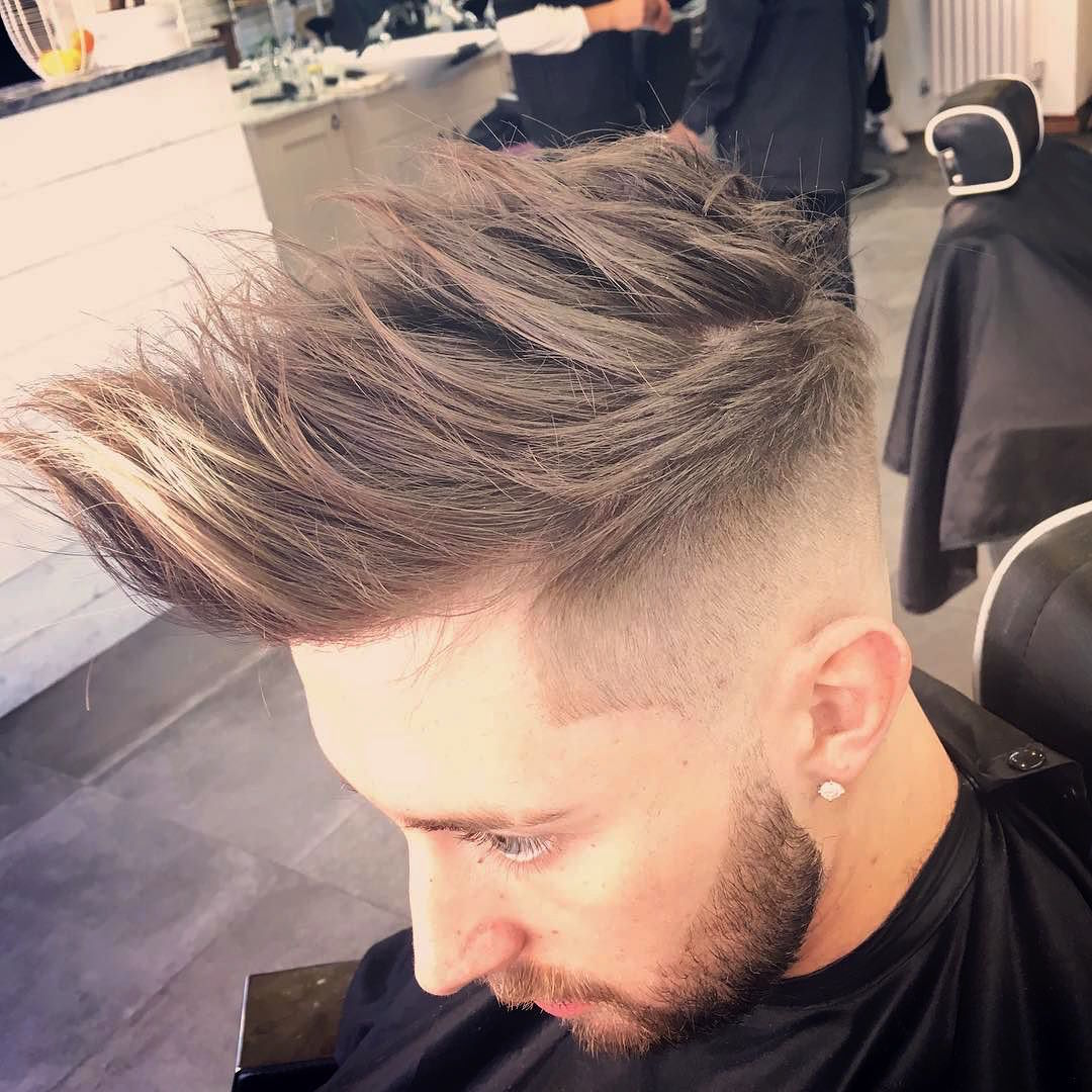 menspiresalon_Long Spikes Skin Fade