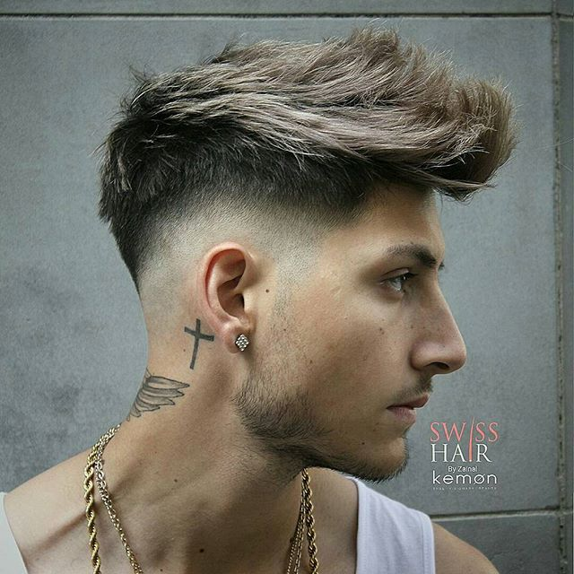 Cool spiky textured mens hairstyles