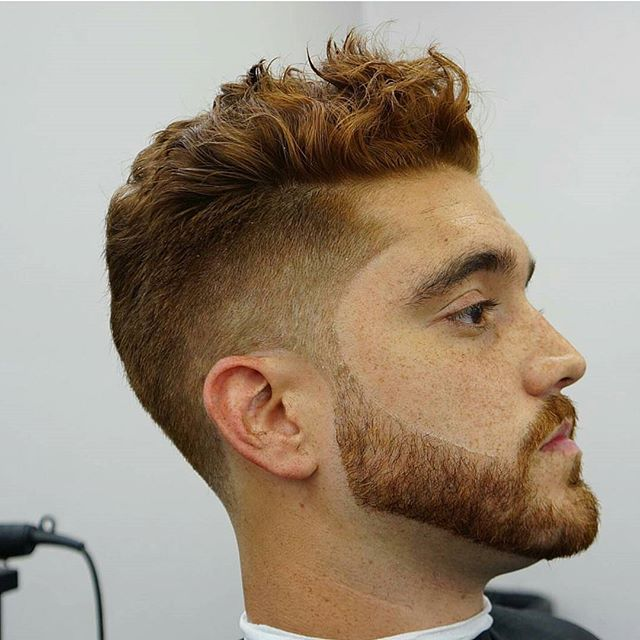 dynasty_barbers Short Wavy Hair Men Taper Fade
