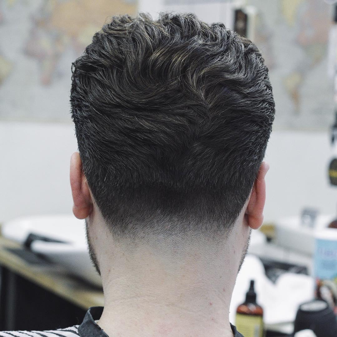 Classic men's taper haircut