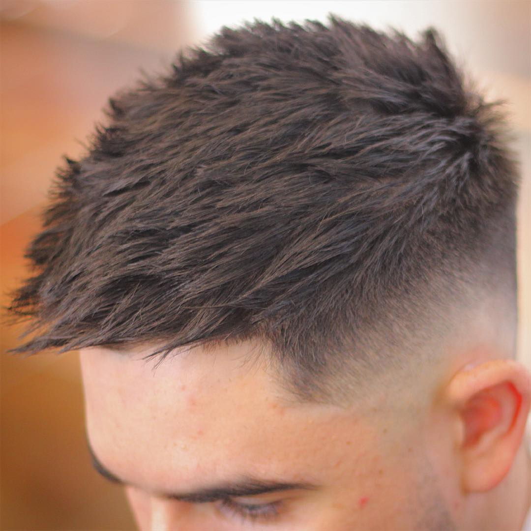 Short haircut for men and high fade