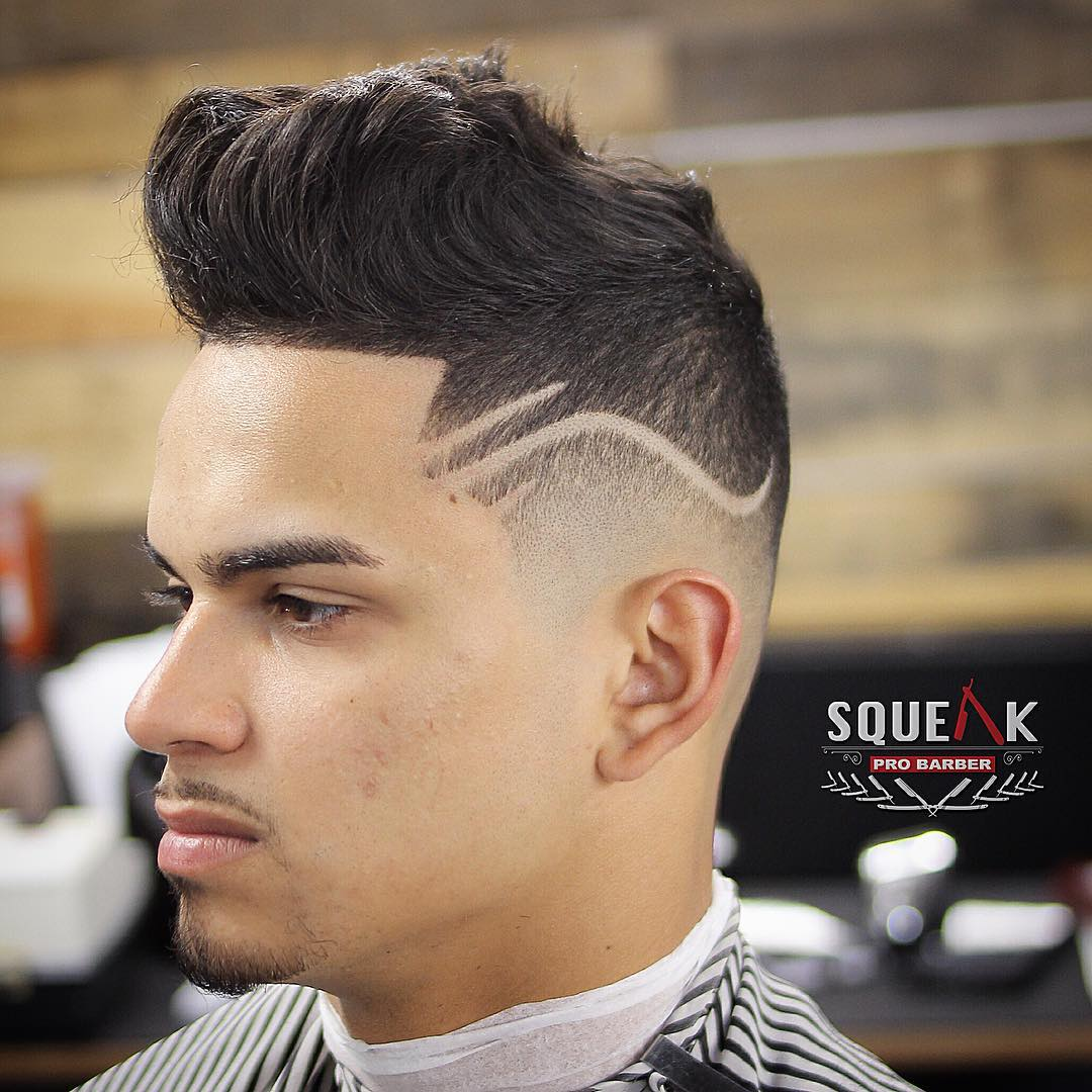 high fade hair design