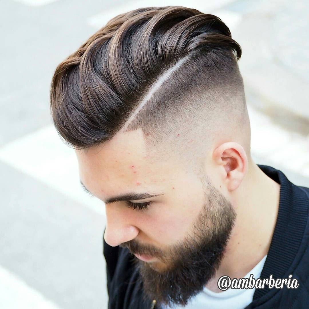 Ambarberia Mens Undercut Beard 1 Haircut By