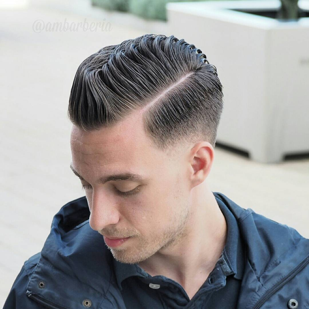 mens haircut for receding hairline