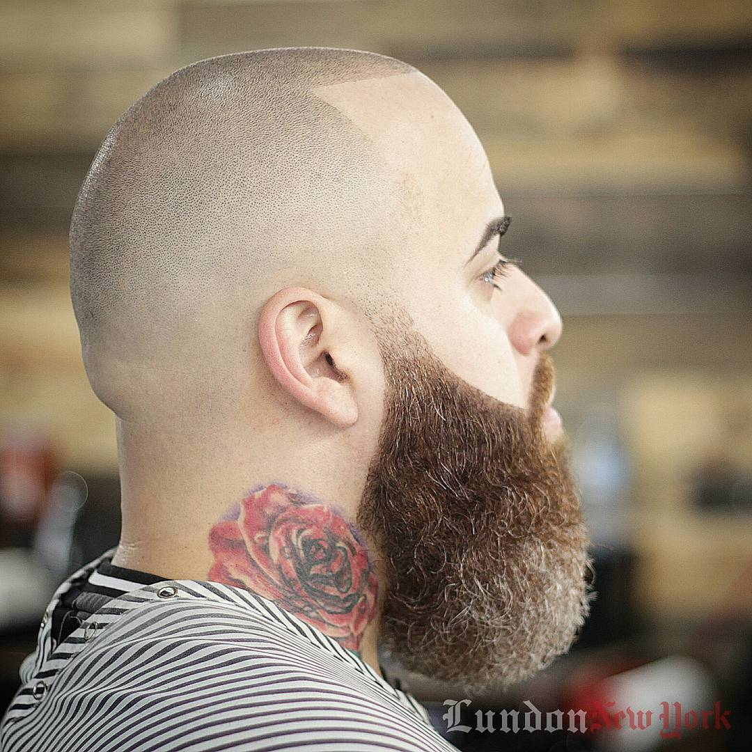 very short mens bald fade haircut