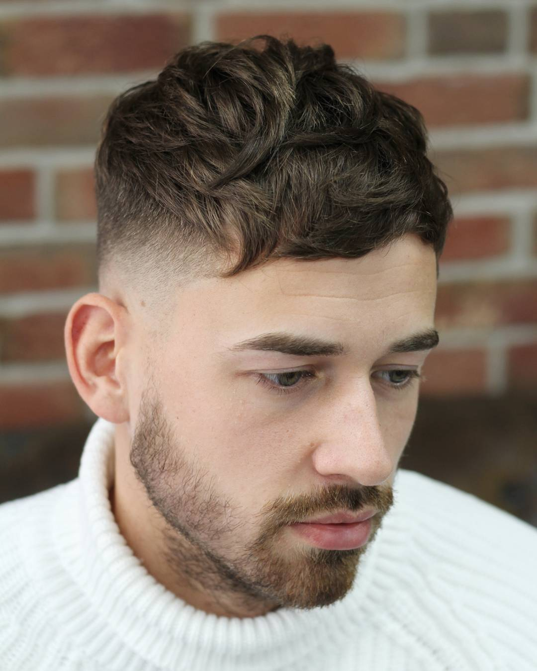 Short Haircut For Men Messy Fringe