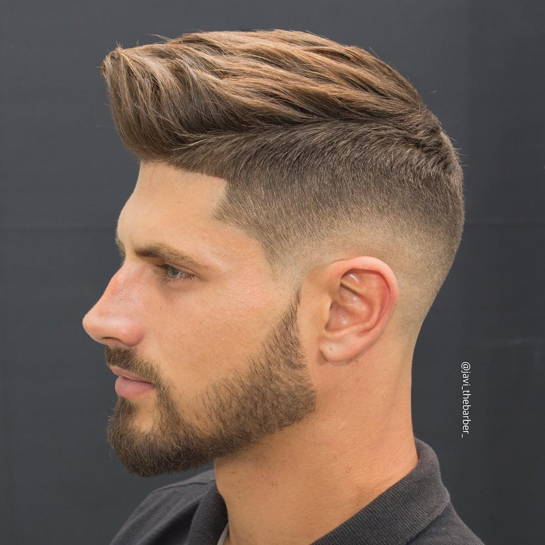 25 hottest hairstyles for men medium textured with high skin fade
