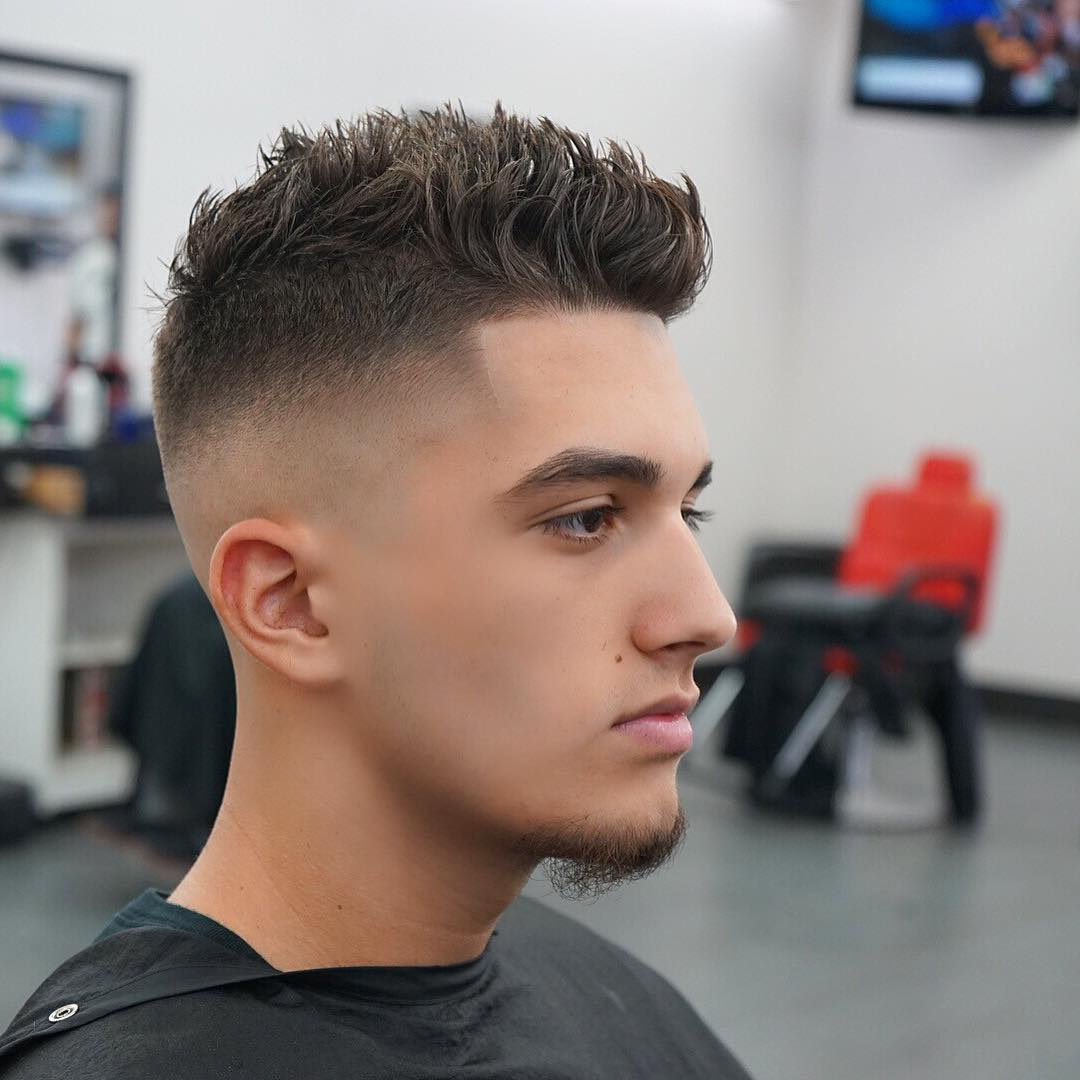 Bald Fade + Short Textured Haircut For Men