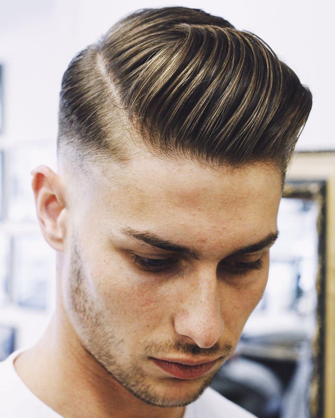 Side Part + Slicked Back + Cool Haircut For Men