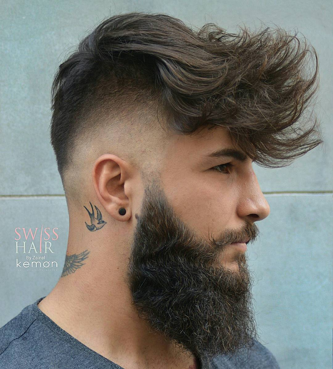 Bald Fade Undercut Hairstyle For Men + Long Fringe