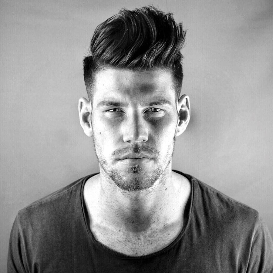 Hairstyles For Men To The Side Hairstyles For Men With Thick Hair 2017