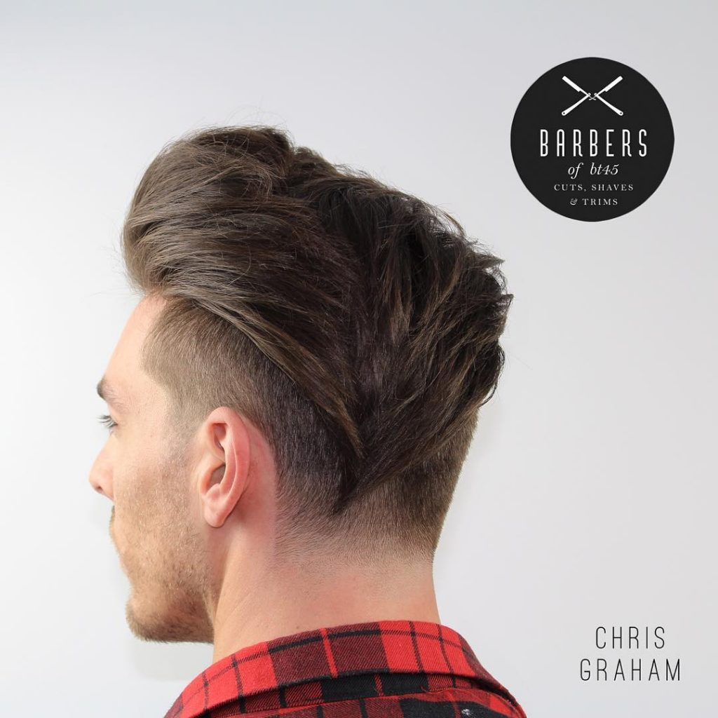 Long wavy hair undercut for men