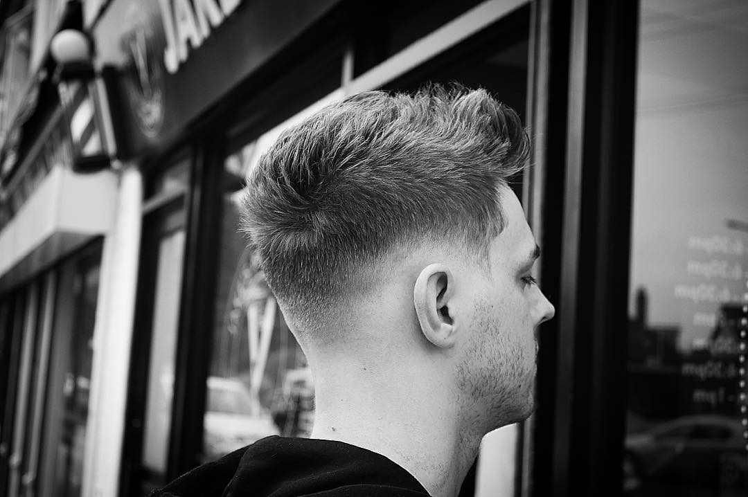 Textured Hairstyles For Men - image jakes_barber_shop-textured-short-haircut-men-drop-fade-2017-new on https://alldesingideas.com