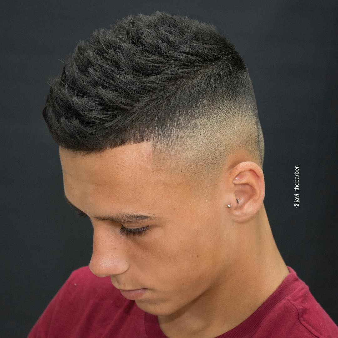 Textured Hairstyles For Men - image javi_thebarber_-high-skin-fade-textured-haircut-men-2017-new on https://alldesingideas.com