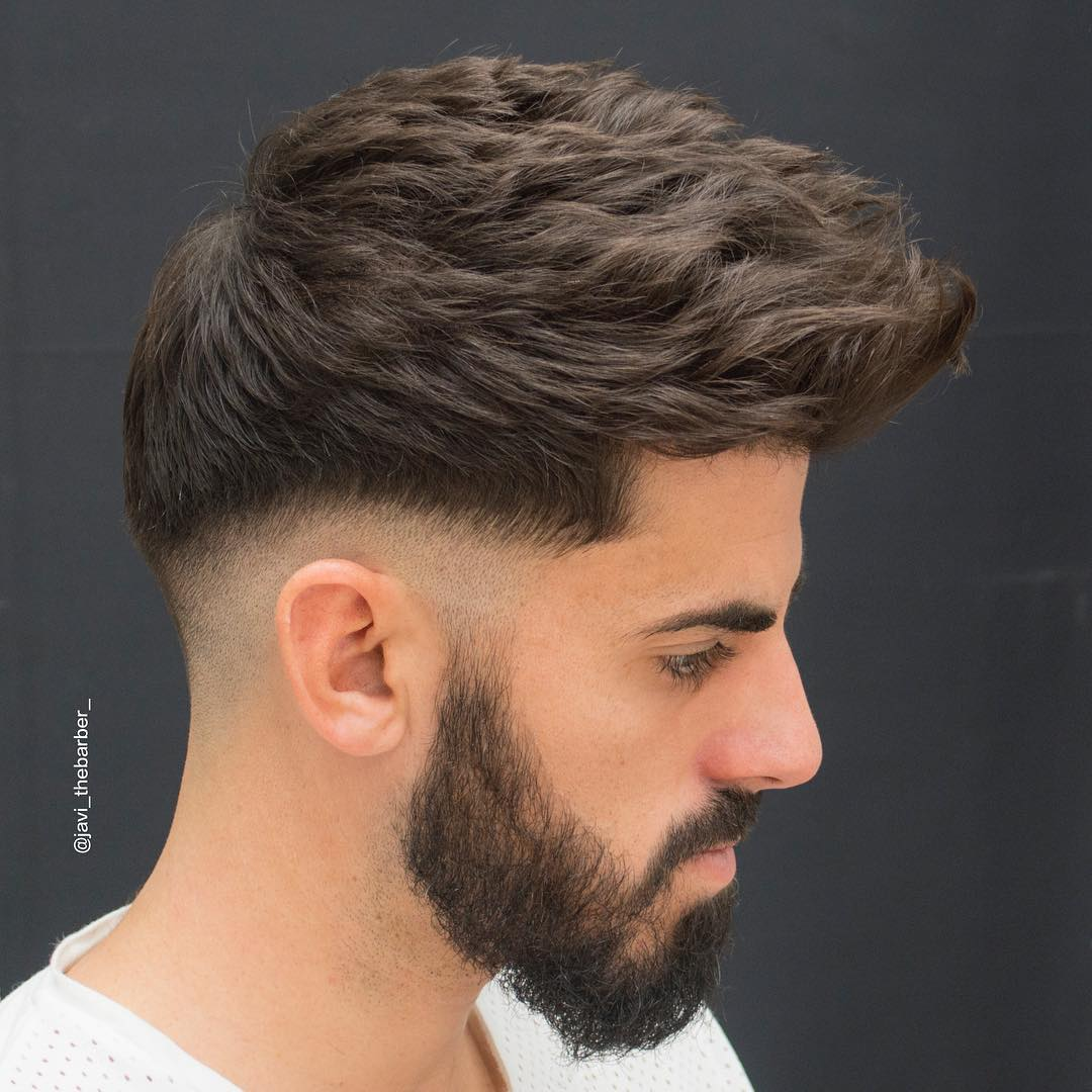 javi_thebarber_ thick textured haircut for men 2017 new