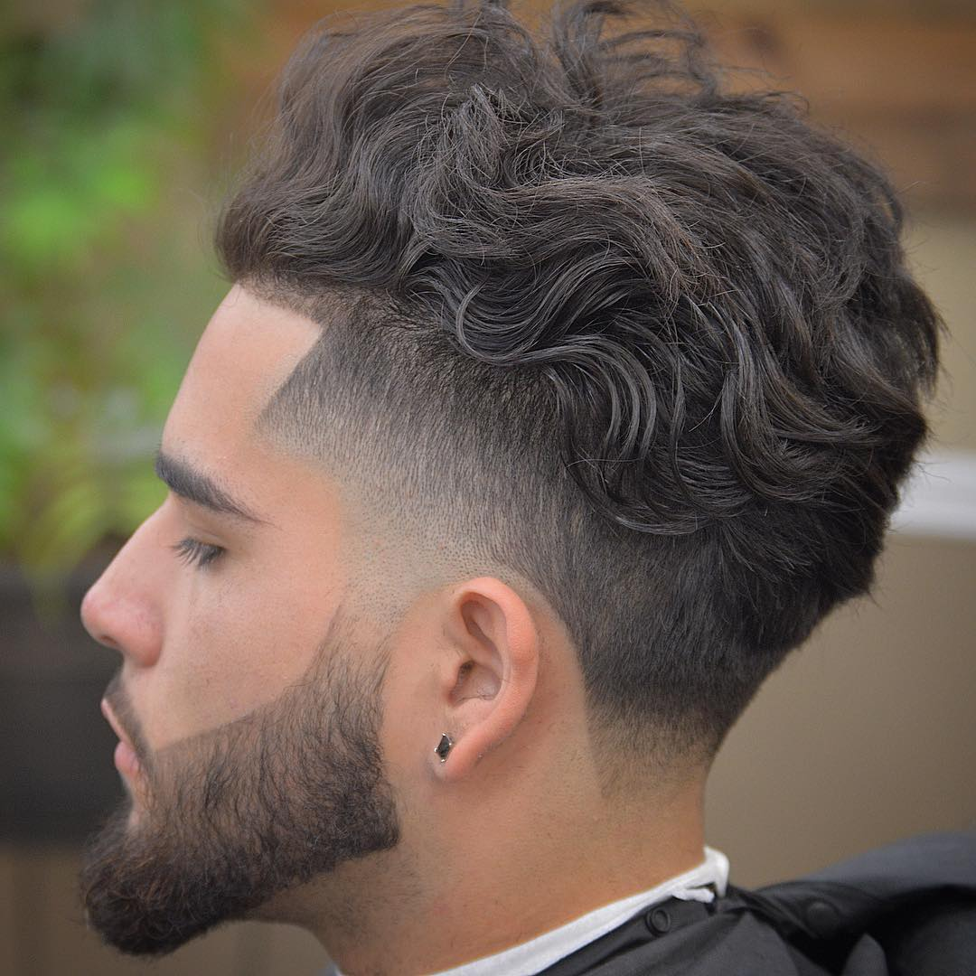 Elegant Long Curly Hairstyle For Men + Shape Up + Undercut