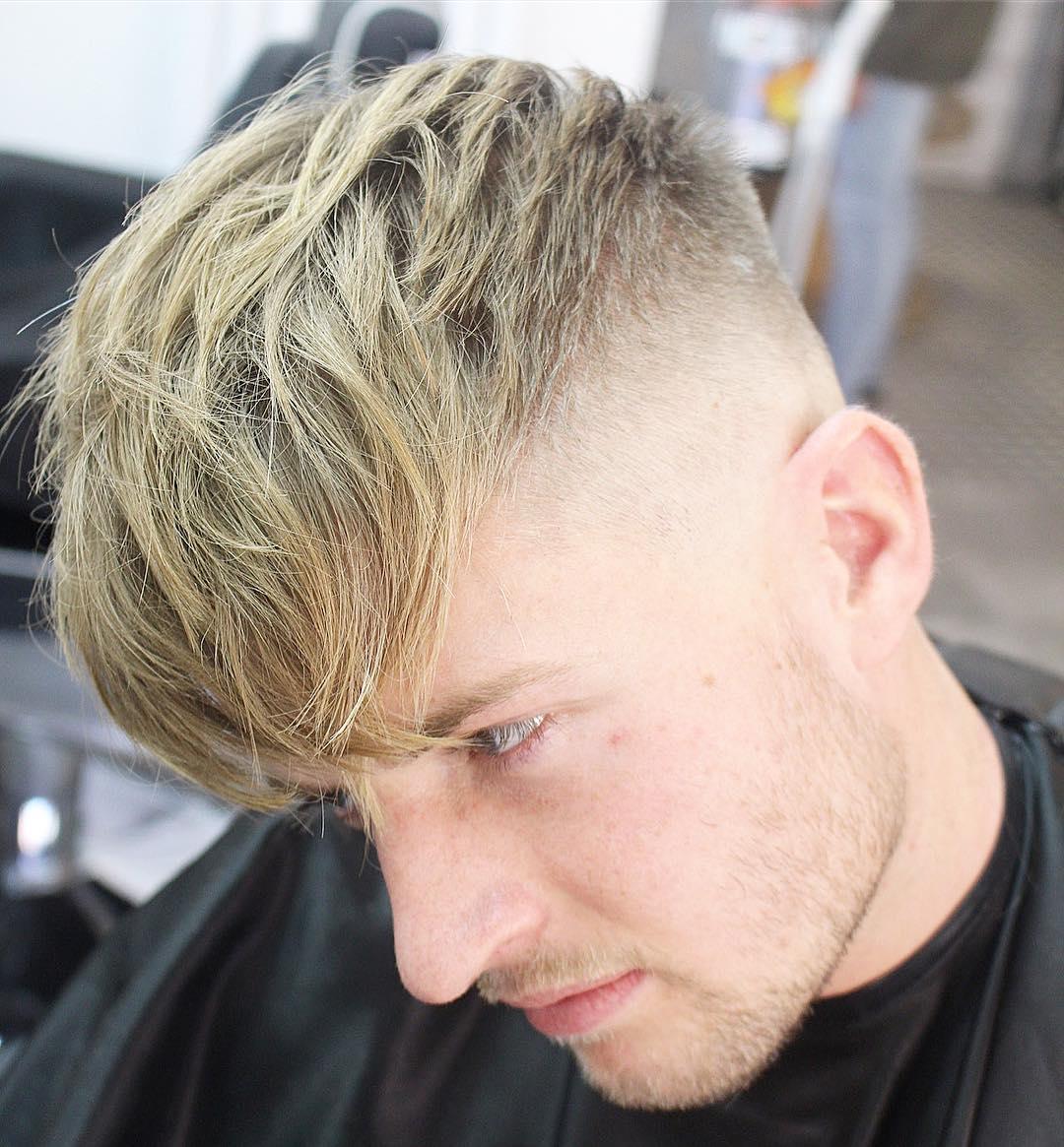 Trending Hairstyles For Men top trending hairstyles for men High Skin Fade Haircut Long Fringe