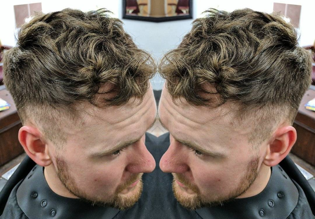 Charming Short Wavy Hair + Drop Fade