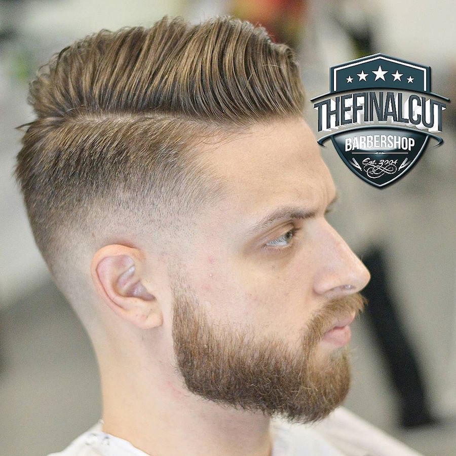 Textured Hairstyles For Men - image thefinalcut_and-high-fade-classic-combover-2017-new on https://alldesingideas.com