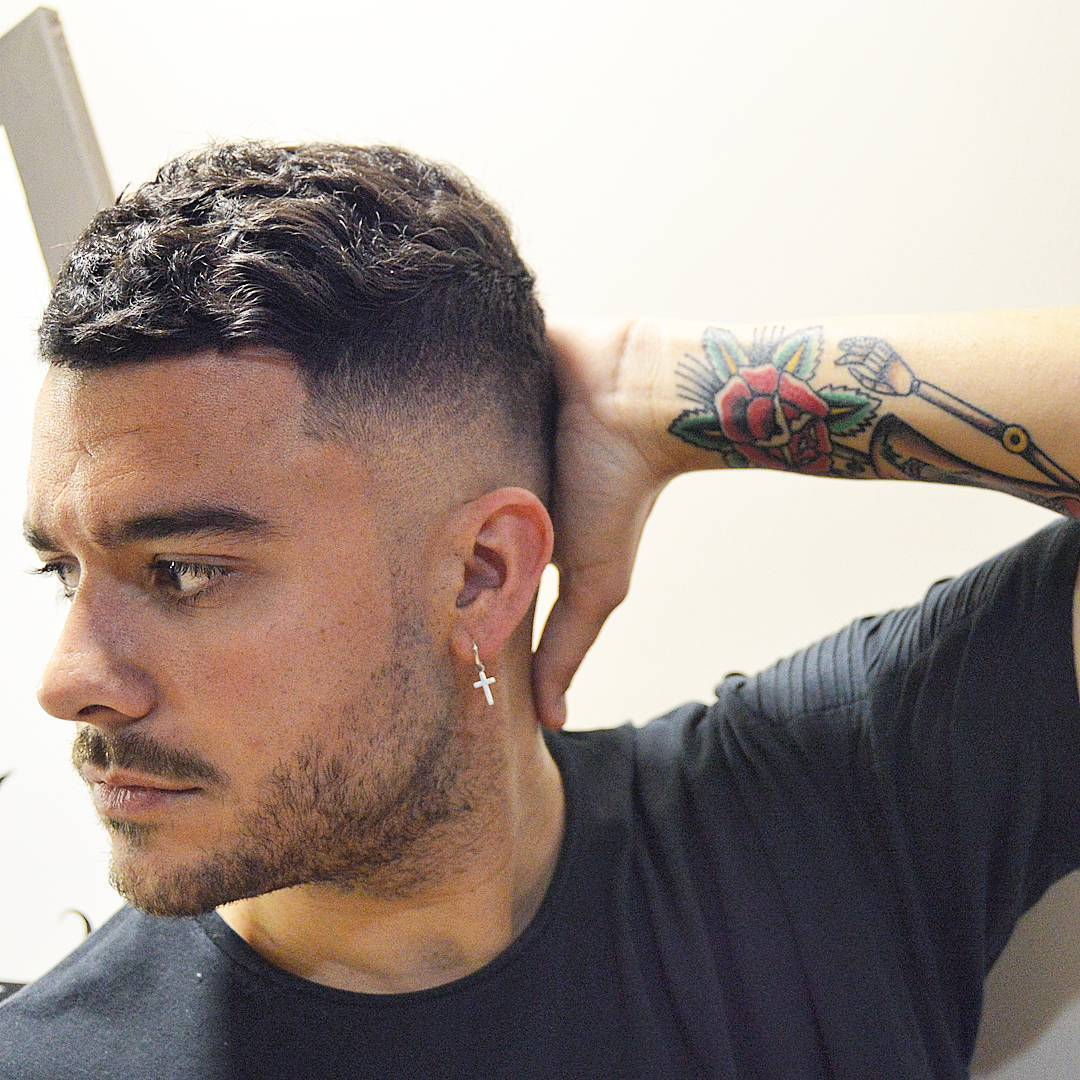 Marvelous Short Wavy Haircut + Skin Fade