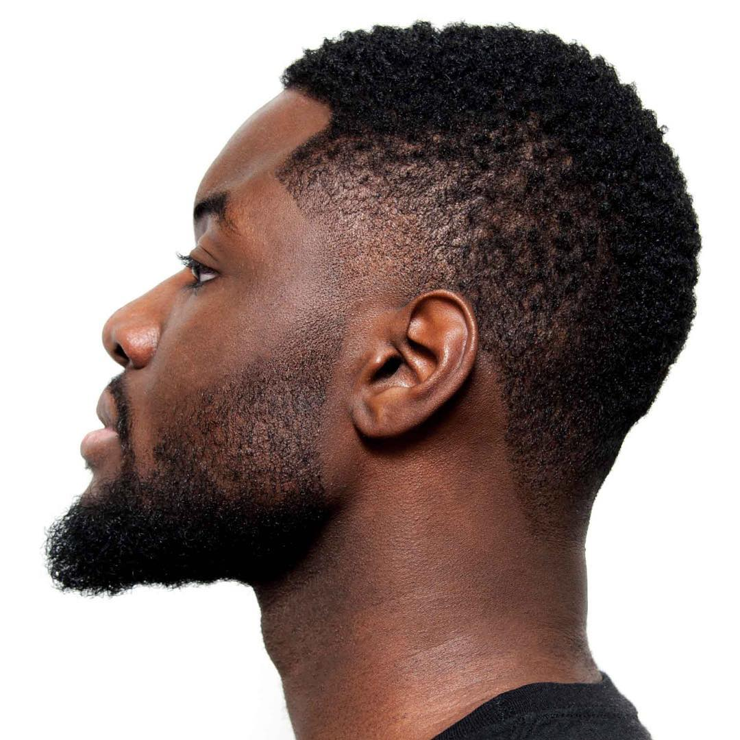 Temple fade haircut for Black men