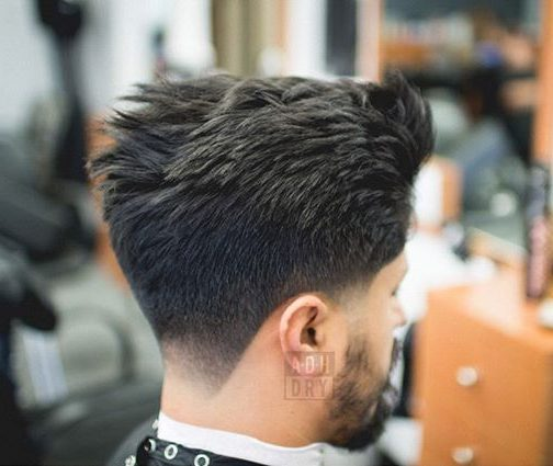 Spiky hair taper fade haircut