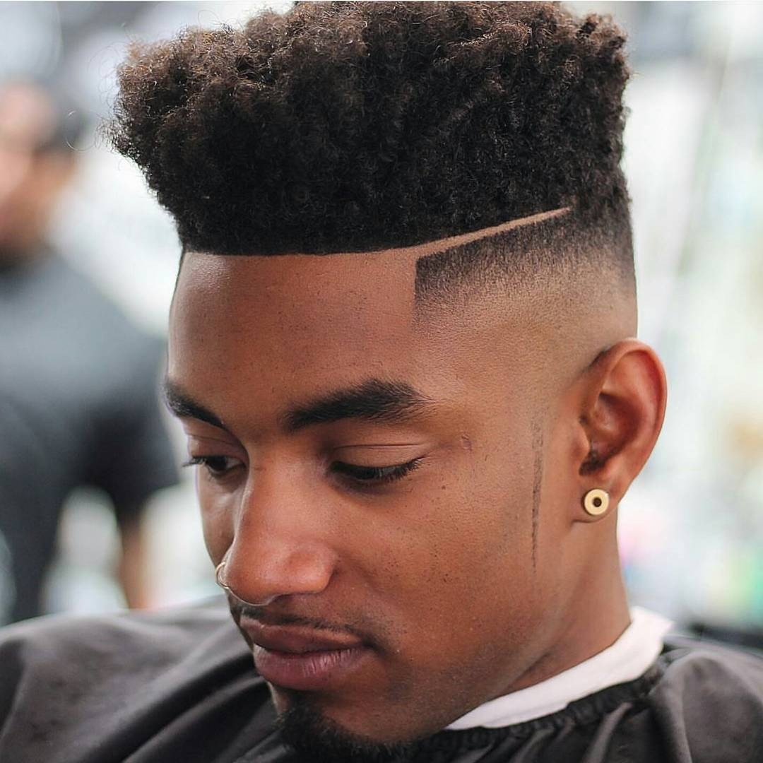Nappy Hairstyles For Black Men Fade Haircut