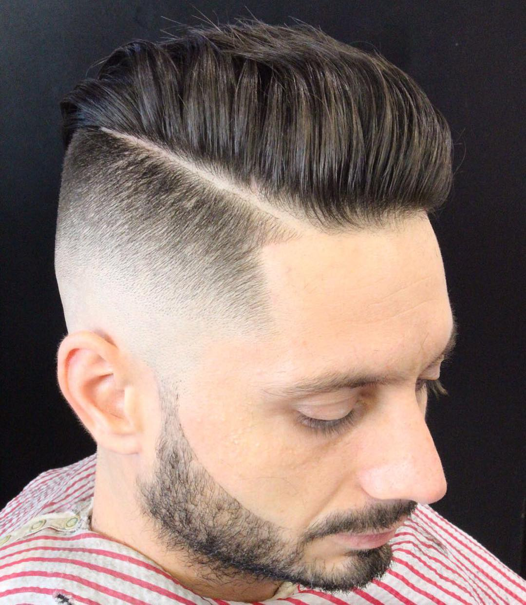 gregorymaxbarber high skin fade haircut medium length hairstyle men