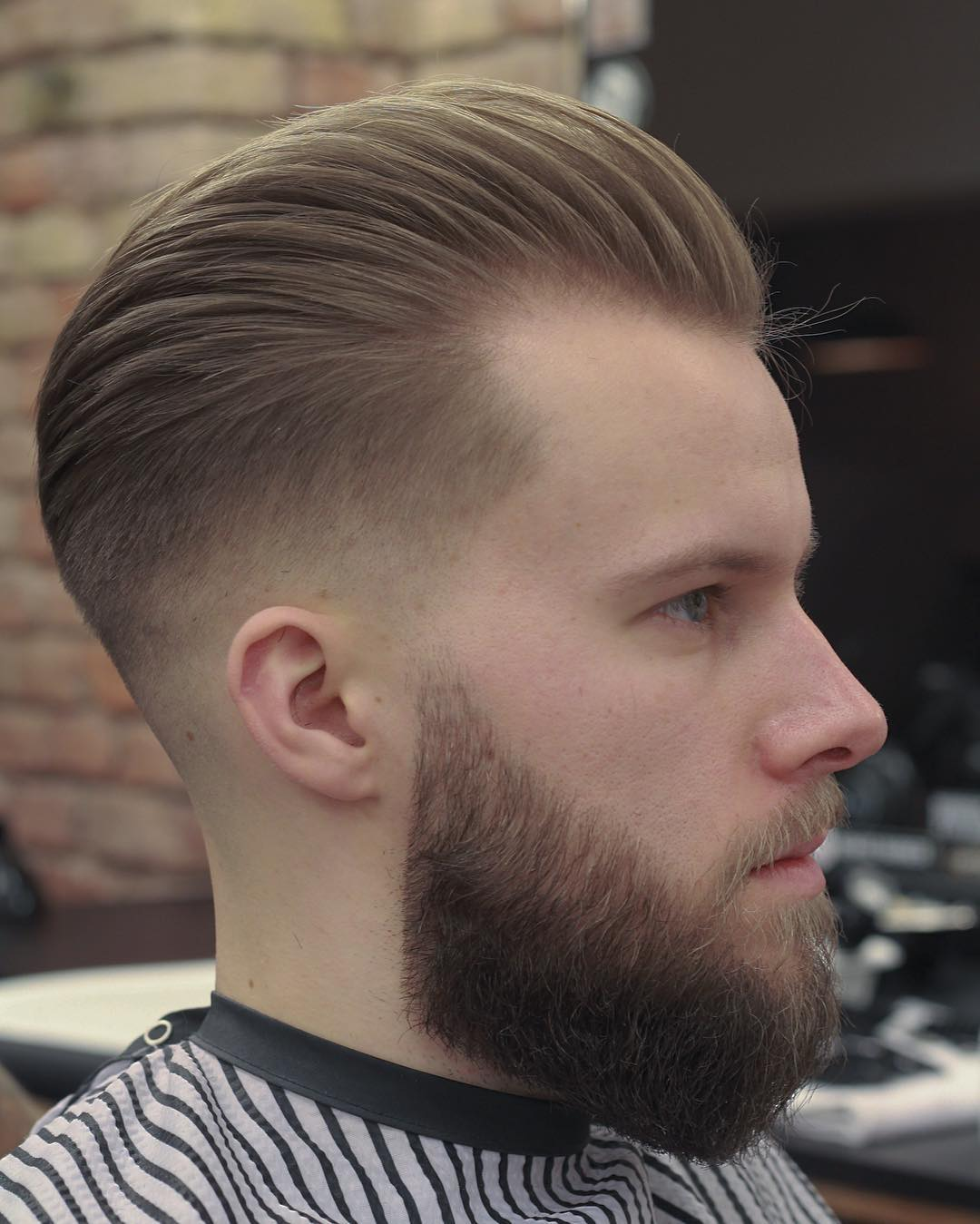 hayden_cassidy slicked back mens haircut mid fade