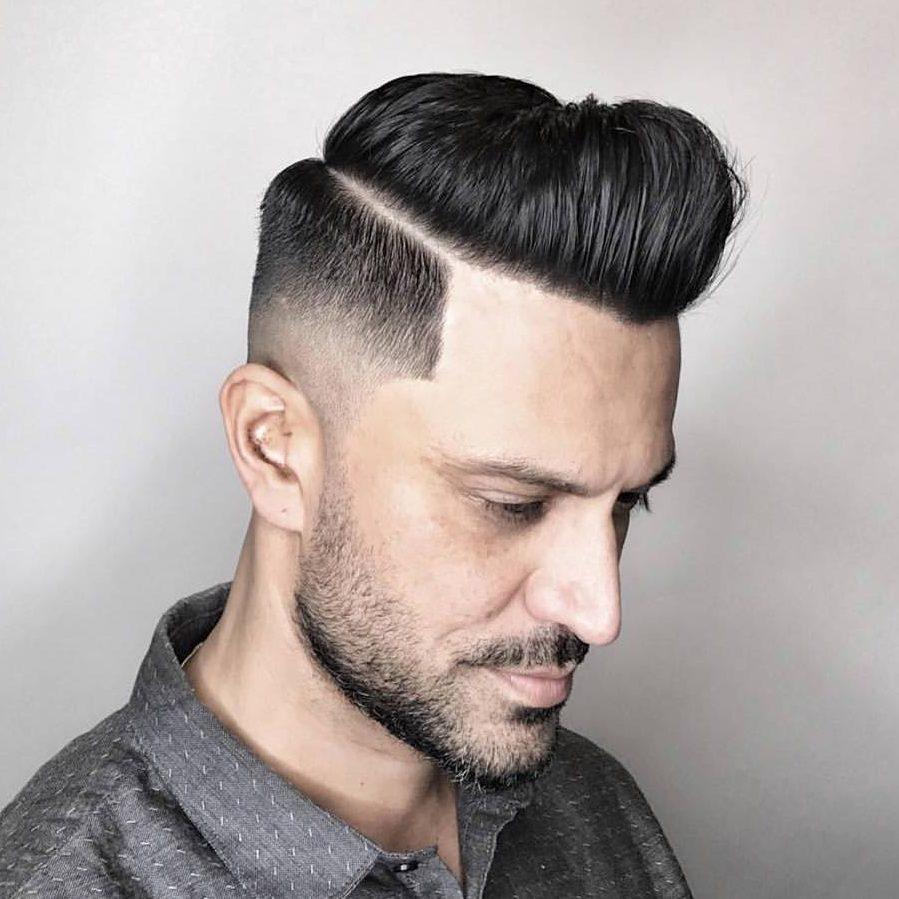 pompadour mid fade haircut