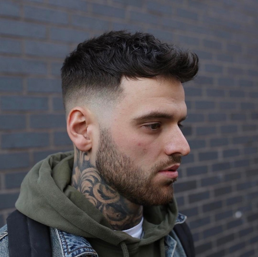 43 medium length hairstyles for men men s hairstyles and - 43 Short Textured Quiff Haircut Mid Fade