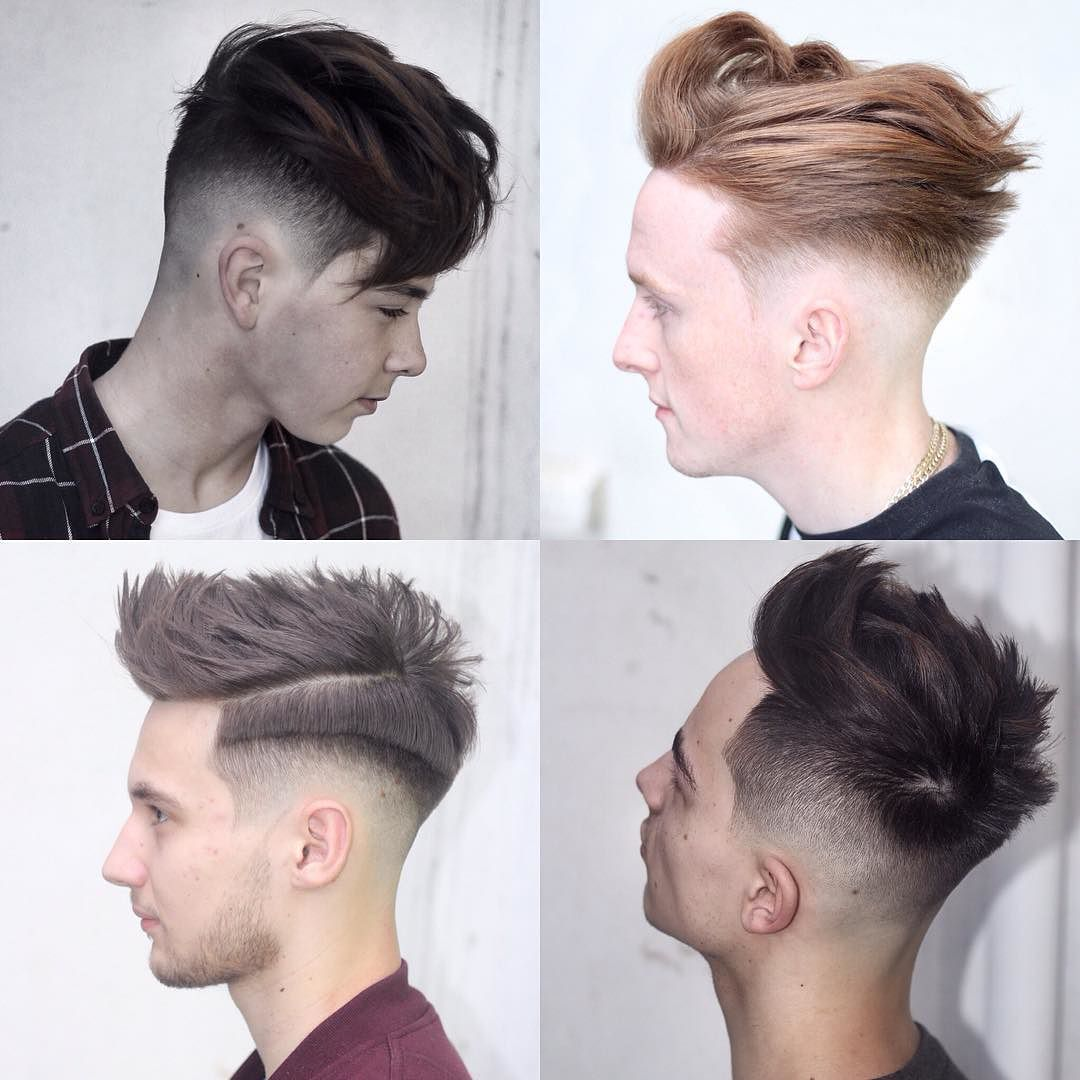 Mid Fade Haircut Long Top
