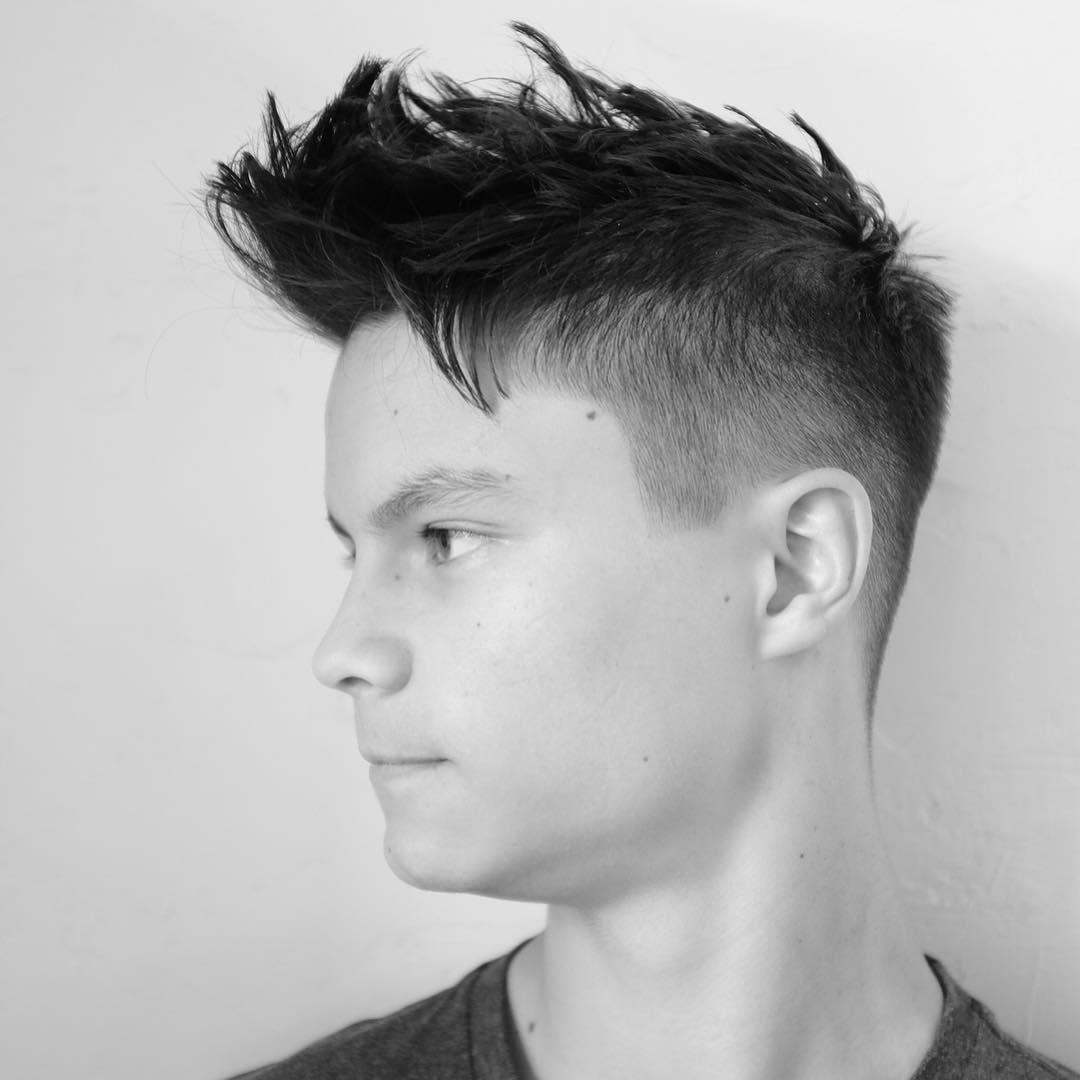 scissorandbone medium length textured mens haircut