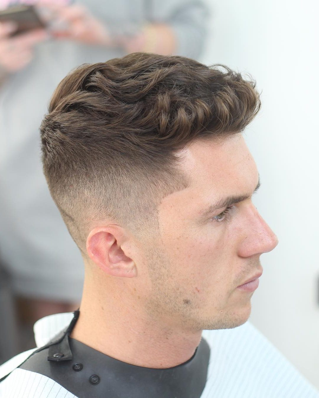 Men Short Hairstyles mozambeak_and slicked back taper fade Mens Short Hair Ideas